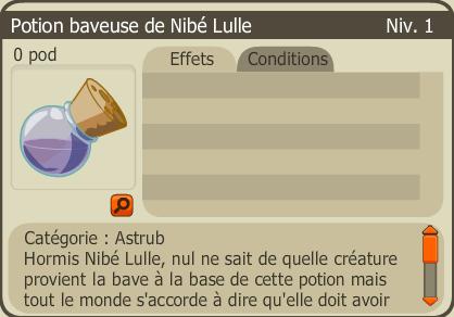 potion baveuse de nibé lulle
